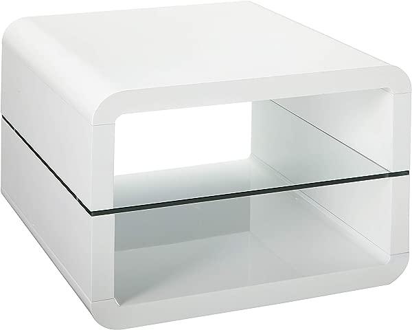 Coaster Home Furnishings 2 Shelf End Table Glossy White