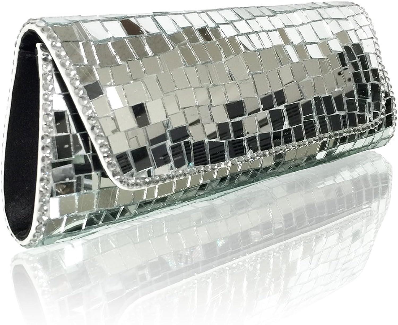 Marc Defang New York Women's Handmade Exclusive Luxury Mirror Evening Purse