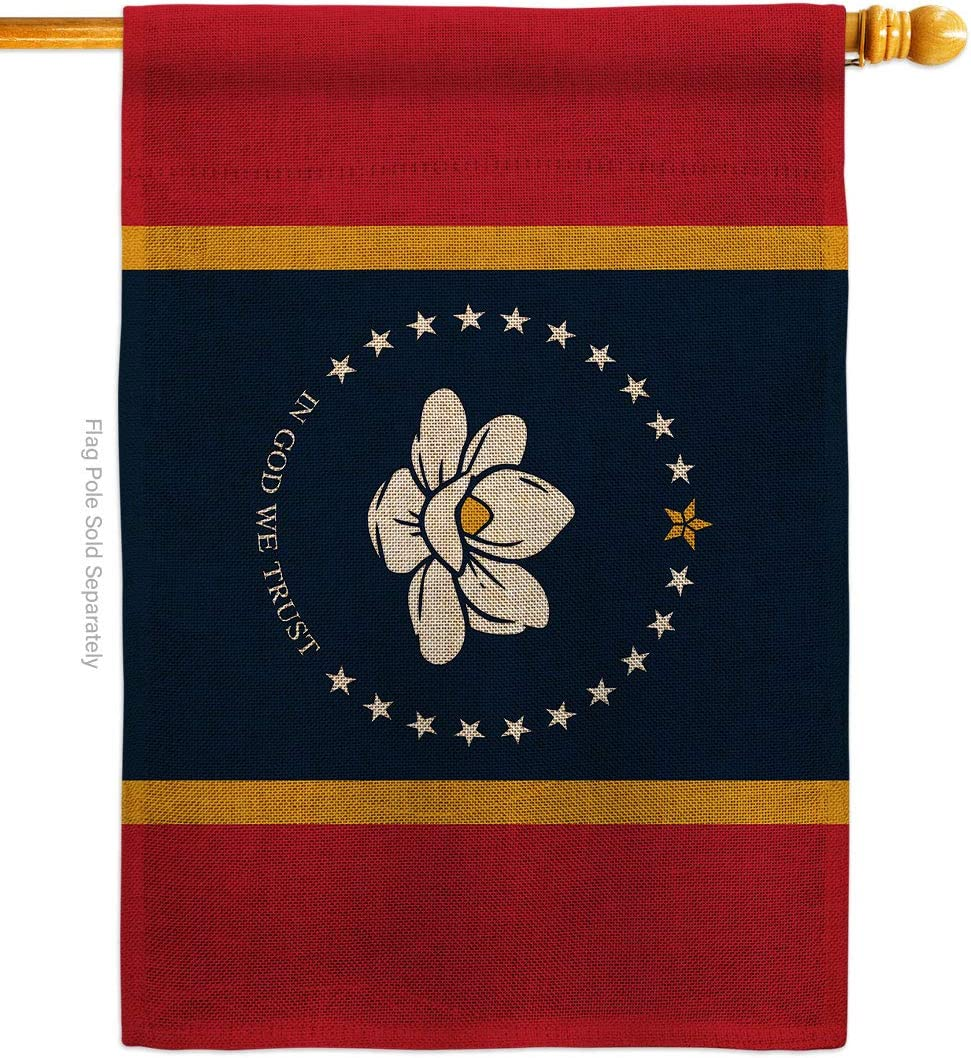 States Mississippi Burlap House Flag Free Shipping Cheap Bargain Gift Regional Popular shop is the lowest price challenge Terri USA American