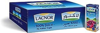 Lacnor Essentials Sugar Free Mix Berries Juice 32 x 180 ml