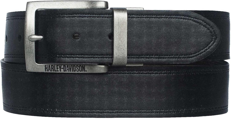 Harley-Davidson Men's Traditional H-D Reversible Leather Belt - Black/Brown