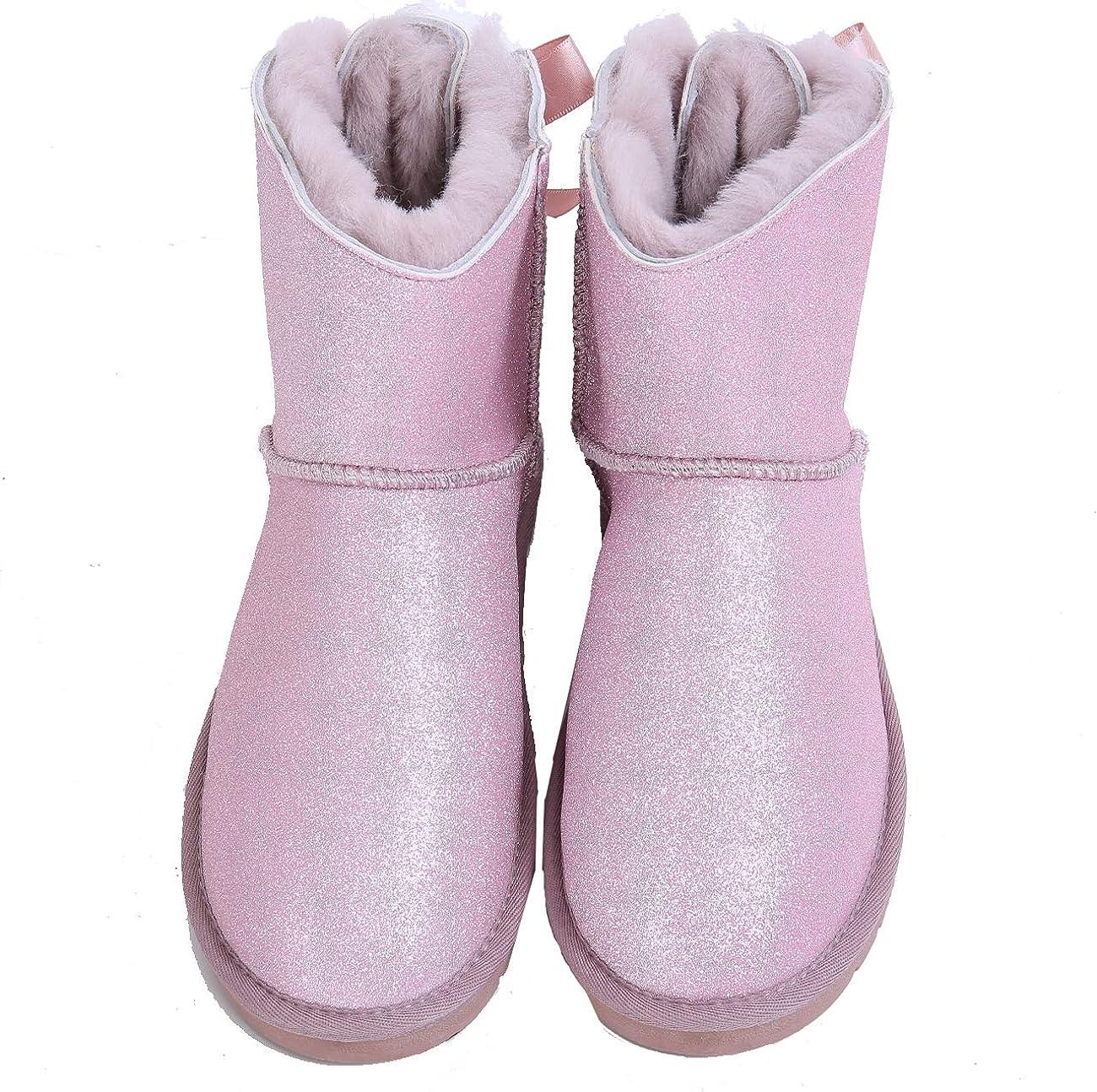 Women's 送料無料(一部地域を除く) Snow Boots Waterproof Winter 送料無料 新品 with Genu Bow Fashion
