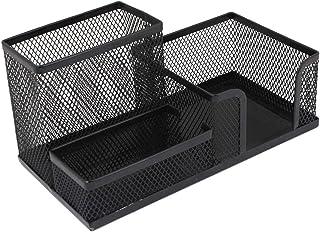 SKYFUN (LABEL) Office Stationary Metal Desktop Table Pen,Pencil Stand Organizer-Black