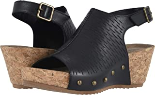 حذاء Taminee نسائي أسود بثقوب من جلد الأكورديون 6 W (D) من Walking Cradles