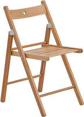 Chaise en bois pliante couleur bois naturel: