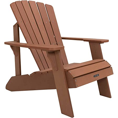Lifetime Faux Wood Adirondack Chair Brown 60064 Garden Outdoor