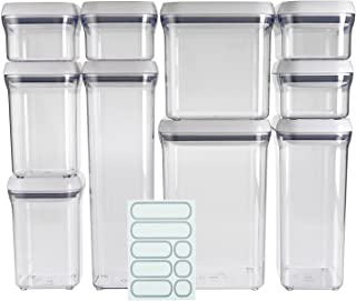 OXO Good Grips 10-Piece Airtight Food Storage POP Container Value Set With 10 Labels