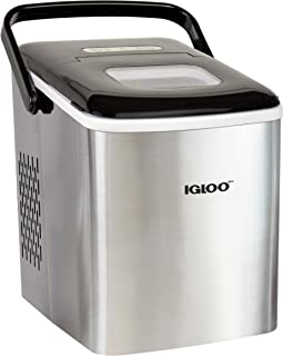 Igloo ICEB26HNSS Automatic Self-Cleaning Portable Electric Countertop Ice Maker Machine With Handle, 26 Pounds in 24 Hours...