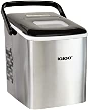 Igloo ICEB26HNSS Automatic Self-Cleaning Portable Electric Countertop Ice Maker Machine With Handle