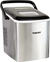 Igloo ICEB26HNSS Automatic Self-Cleaning Portable Electric Countertop Ice Maker Machine With Handle, 26 Pounds in 24 Hours, 9 Ice Cubes Ready in 7 minutes, With Ice Scoop and Basket