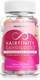 Hairfinity Candilocks Chewable Hair Vitamins - Gummies Scientifically formulated with Biotin, Inositol, and Choline for Lo...