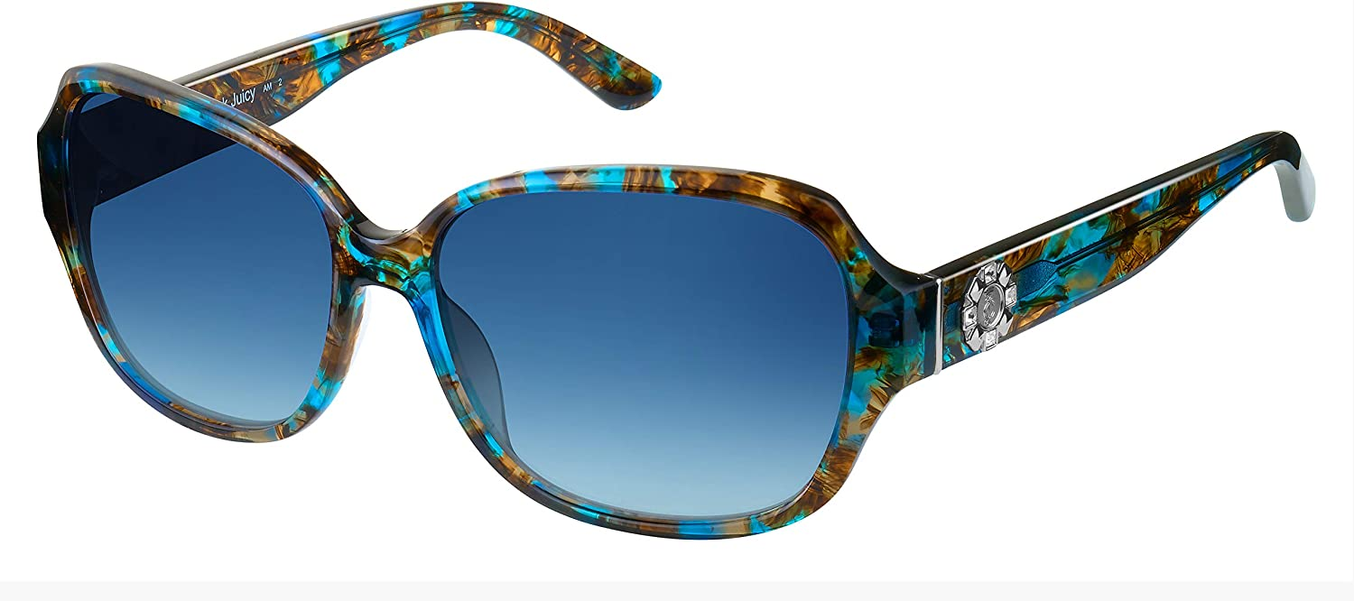 Juicy Couture - Sacramento Mall 591 S Blue Rectangle Brown 0S9W Sunglasses Max 53% OFF