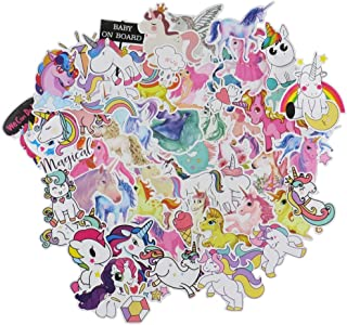 Cute Unicorn Stickers for Laptops, 94 Pack Vsco Pink Decals Waterproof Vinyl Stickers for Hydro Flask Water Bottle Guitar Refrigerator Motorcycle Car Bumpers Helmet, Gift for Girls Kids Teens Lover