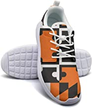 Rrrmaryland Flag Oriole Women's Lady Skateboard Casual Shoes Light Classic Running Shoes