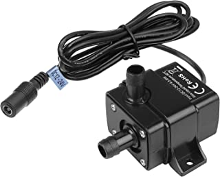 MOUNTAIN_ARK DC 12-24V Mini Submersible Water Pump Max. 220L/H Fountain Pump High Lift 9.8ft, with 1.6m Power Cord for Fish Tank Pumping, Rockery Water, Bonsai Fountain,Fresh Water Only