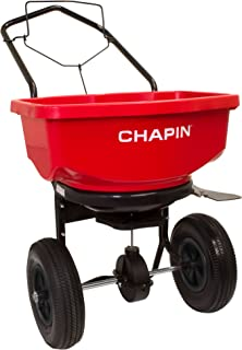 Chapin International 80080 Broadcast Spreader, 80 lb, Red