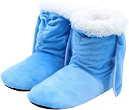 Winter Slippers Soft Plush Warm Home Slippers Cute Rabbit Ear Indoor Shoes Wooden Floor Shoes