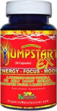 Jumpstart EX Energy, Focus & Mood Boost Nootropic Support Supplement (30 Capsule Bottle) - by 4 Organics - Natural Best Energy Focus Booster - Pick-me-up Stimulant