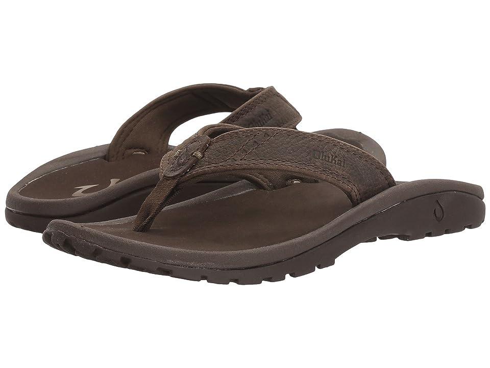 OluKai Kids Nui (Toddler/Little Kid/Big Kid) (Seal Brown/Dark Java) Boys Shoes