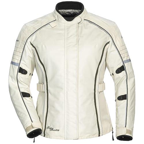 Tour Master Trinity 3.0 Women's Street Racing Motorcycle Textile Jacket - Cream, Large