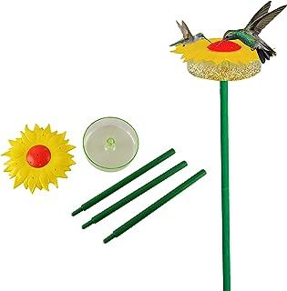 Home-X Decorative Sunflower Hummingbird Feeder with Bath