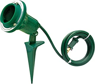 Hyper tough Outdoor Floodlight holder with 6 foot cord and a pivot head up to 90 degree fits PAR38 Lamp not included