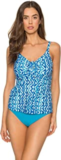 Sunsets Women's Marina Tankini Top Swimuit with Front Tie Detail
