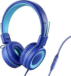 POWMEE P10 Kids Headphones with Microphone Stereo Headphones for Children Boys Girls,Adjustable 85dB/94dB Volume Control F...