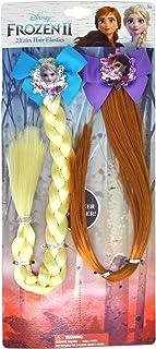 Disney Frozen II Girls Elsa & Anna Faux Hair Clip Set (2-Pack)