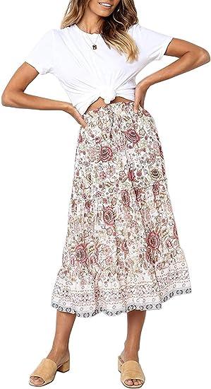 dirty pink long boho skirt