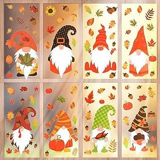 Oogstfeest raamstickers, raamstickers herfst, 8 stuks Thanksgiving raamstickers herfstbladen, herfstdecoratie, raamsticker...