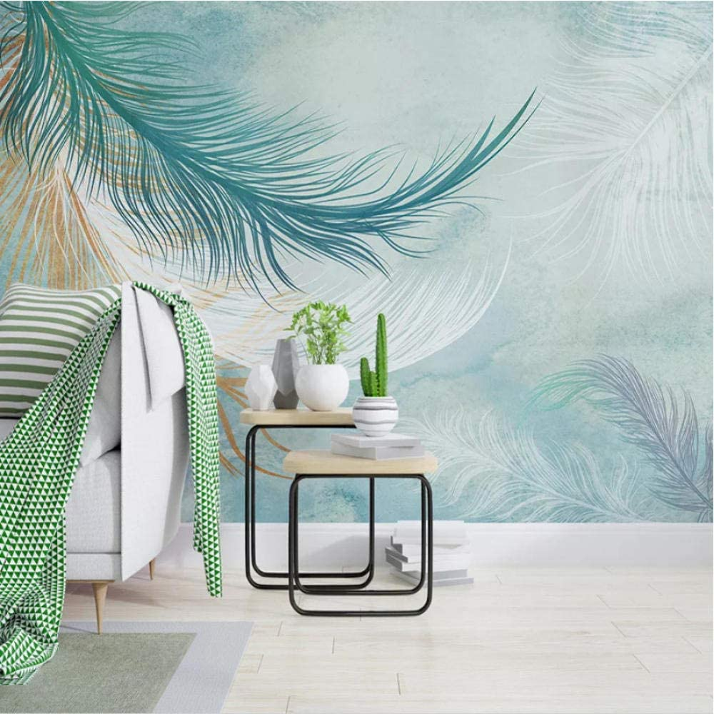 Clhhsy Bedroom Inventory cleanup selling sale Decoration Painting Custom Size Feather Any Max 68% OFF Wa 3D