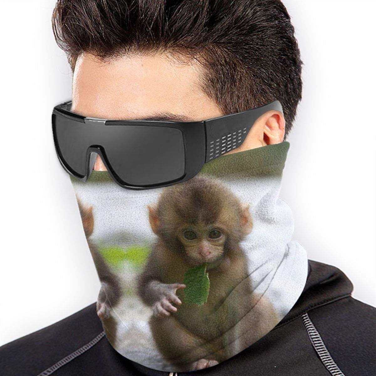 Monkey Neck Gaiter Headwear Headband Head Wrap Scarf Mask Neck/Ear Warmers Headbands Perfect For Winter Fishing, Hiking, Running, Motorcycle Etc& Daily Wear For Men And Women