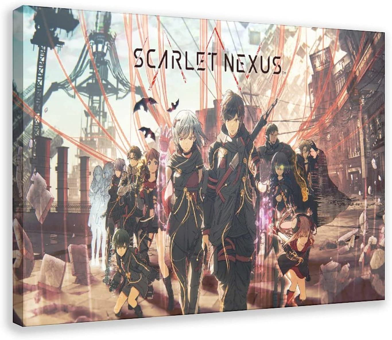 Scarlet Nexus Anime 1 Canvas Poster Wall Print Art Many popular brands Popularity Picture Decor
