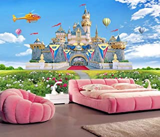 Wallpaper 3D Mural Children's Room Castle Helicopter Wall Murals for Living Room and Bedroom Wall Decor