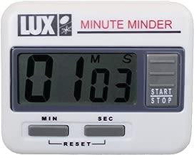 Lux Cu100 Large Number Display, Magnetic Back Kitchen Digital Count Up/Down Timer, White