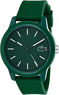 Lacoste Men's TR90 Japanese Quartz Watch with Rubber Strap, Green, 20 (Model: 2010985)