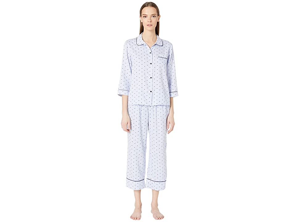 Kate Spade New York Sateen Long Pajama Set (Mini Heart) Women