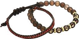 Awareness Duo Matte Smoky Quartz and Leather Bracelet Set