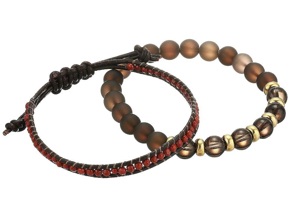 Dee Berkley - Dee Berkley Awareness Duo Matte Smoky Quartz and Leather Bracelet Set