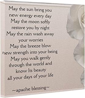 wonbye Photo Prints On Canvas Apache Blessing-Ivory Roses Canvas Stretcher 8x8 inch