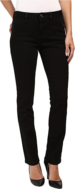Portia Straight Platinum Denim in Black