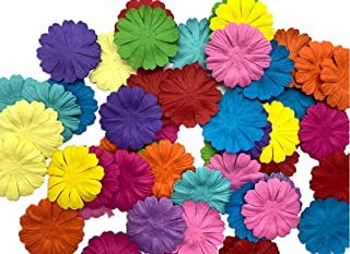 100 pcs Patch Flowers 40x40mm Mulberry Paper Flower Scrapbooking Wedding Doll House Supplies Card Mini Paper Flowers Artificial Flowers Craft Flowers Tiny Flowers