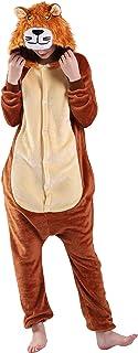 Sponsored Ad - EJsoyo Adult Onesie Bunny Sleepwear Lion Animal Puppy Cartoon Costume and Teens Pajamas Unisex Christmas Ha...
