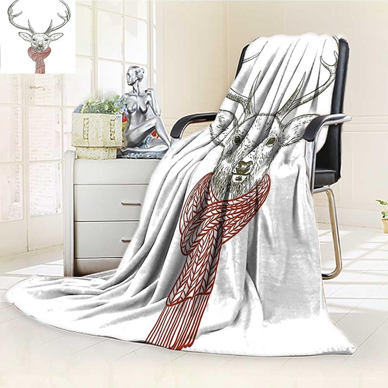 Digital Printing Blanket A Wearing Scarf Knitted Neck Wintertime C December Seasonal Summer Quilt Comforter
