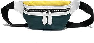 YWSCXMY-AU New Canvas Bum Bag Belt Women Leisure Panelled Shoulder Bags Fanny Letter Waist Bag Packs (Color : Green)