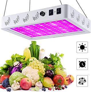 V99GROW 1000W LED Grow Light, Three Modes Full Spectrum LED Grow Lamp with Timer, Daisy Chain Design for Indoor Plants Hyd...