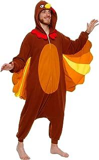 Silver Lilly One Piece Turkey Costume - Unisex Adult Plush Cosplay Animal Pajamas