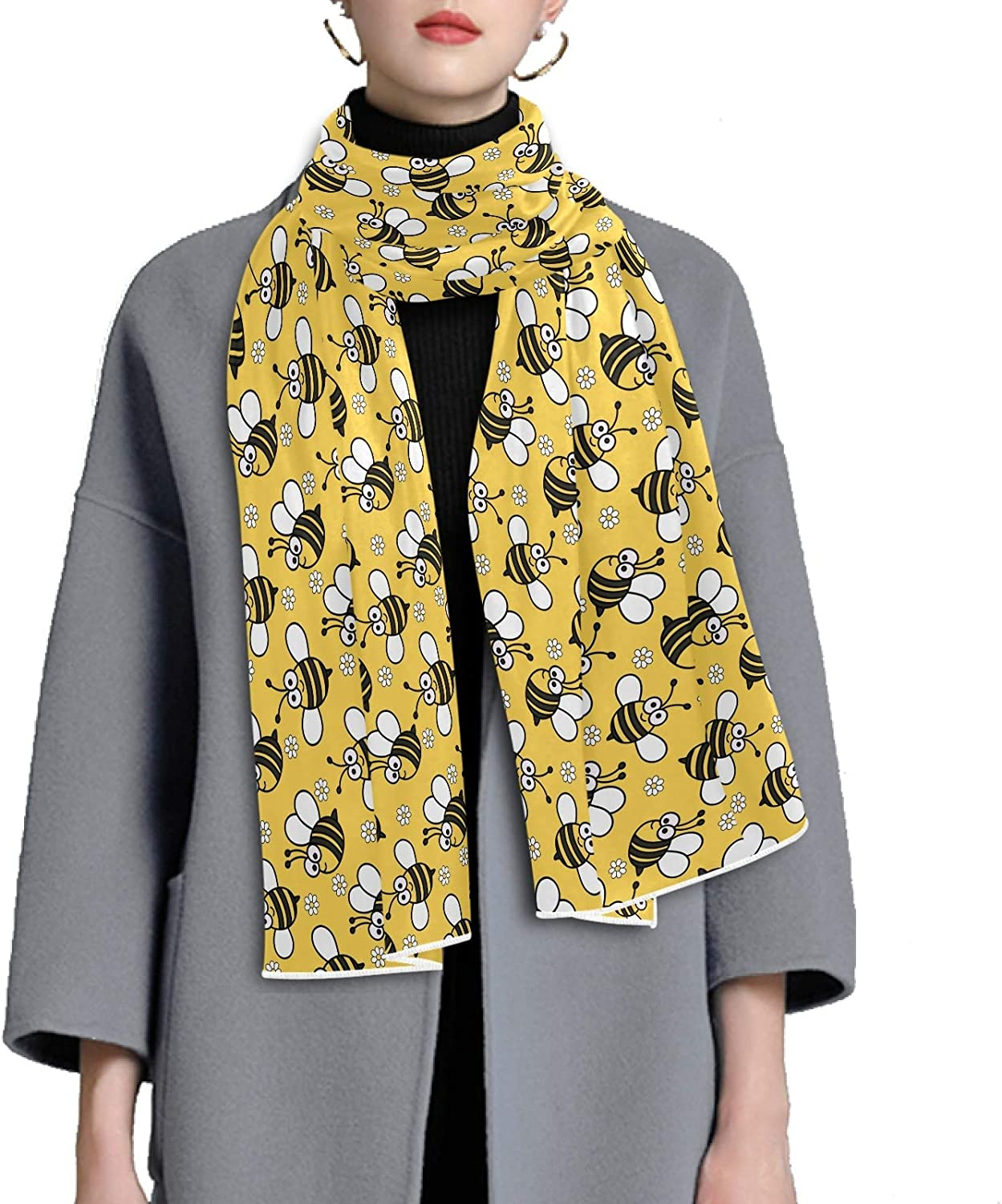 Scarf for Women and Men Cute Baby Bee Blanket Shawl Scarves Wraps Warm soft Winter Long Scarves Lightweight