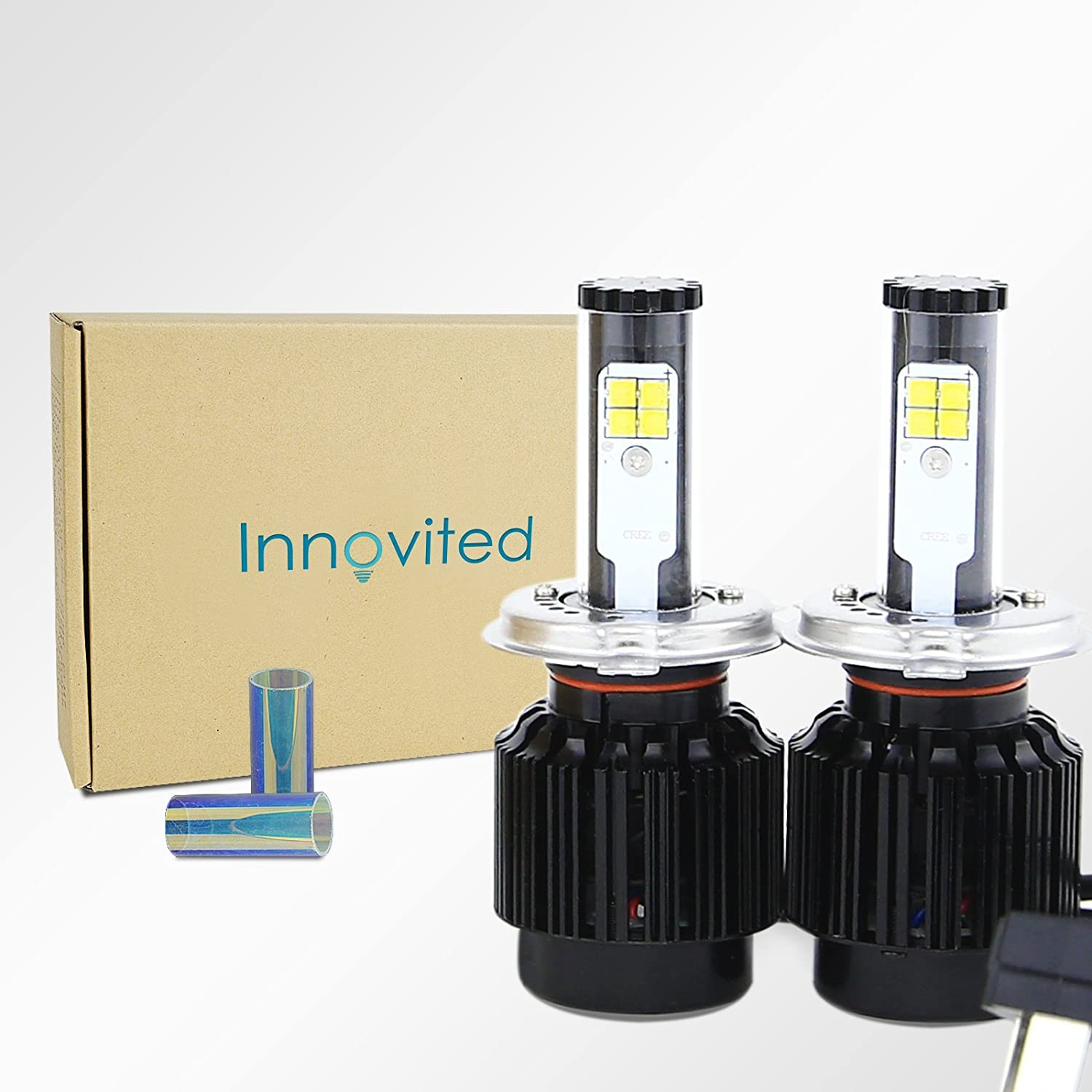 Innovited All In One LED Headlight Conversion Kit - H4 9003- 6000K 80W 8,000Lm With CREE Bulbs - 2 Year Warranty